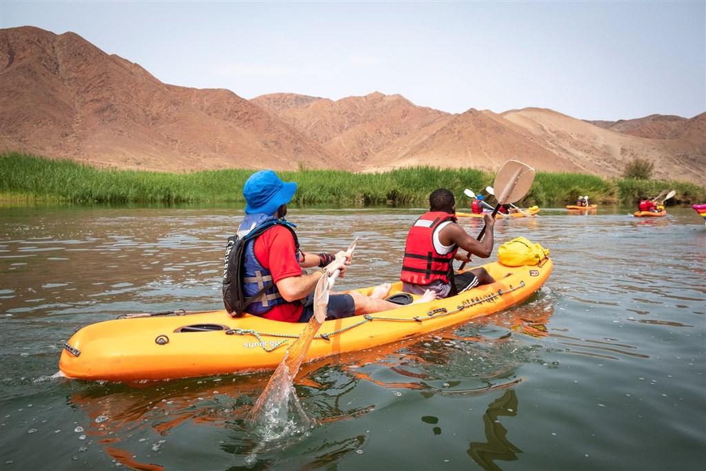 Namibie - Oranžská řeka na kajacích
